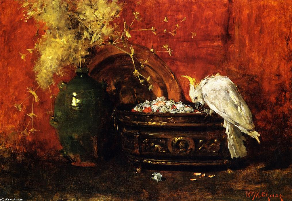 White Cockatoo, Oil On Canvas by William Merritt Chase (1849-1916, United States)