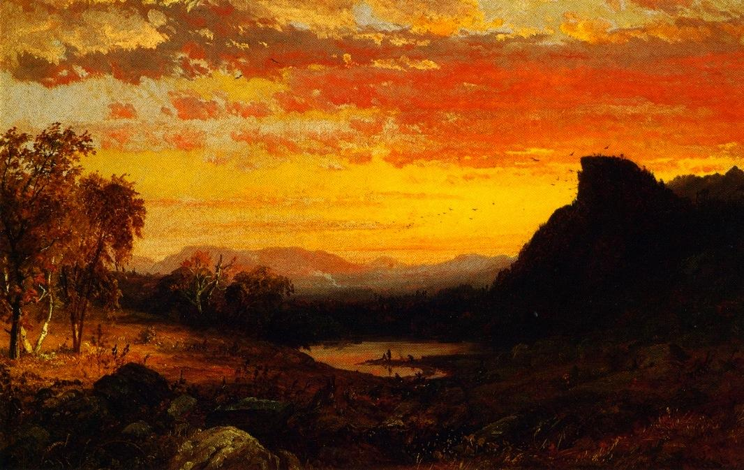 White Mountain Scenery, Oil On Panel by Jasper Francis Cropsey (1823-1900, United States)