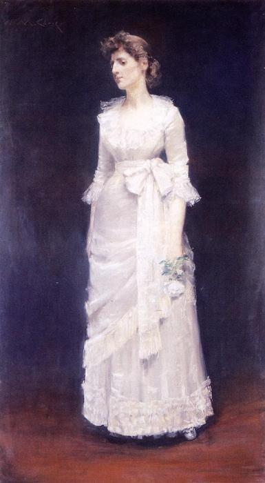 The White Rose (also known as Miss Jessup), Drawing by William Merritt Chase (1849-1916, United States)