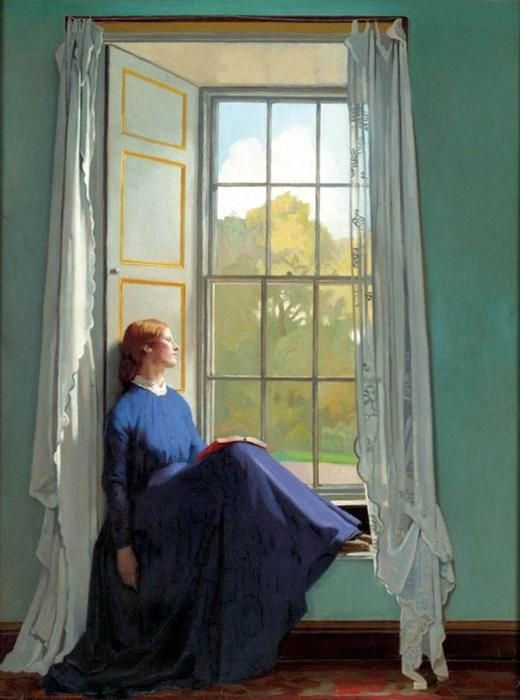 The window seat, 1901 by William Newenham Montague Orpen (1878-1931, Ireland) | Painting Copy | ArtsDot.com