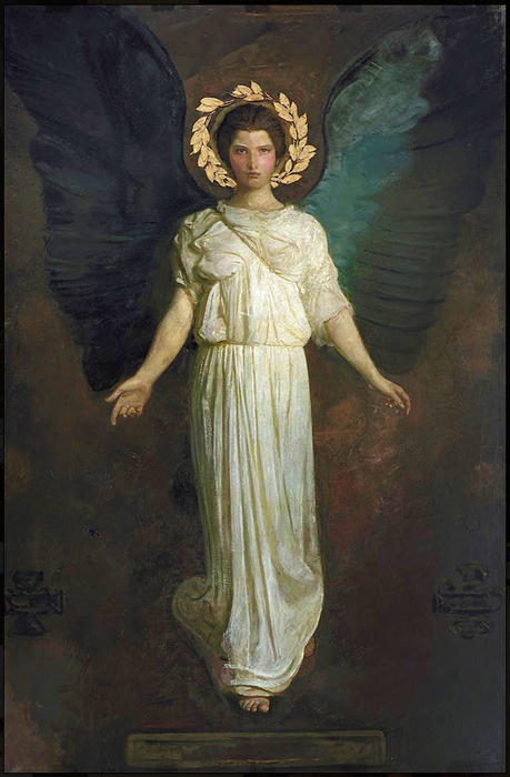 A Winged Figure, 1904 by Abbott Handerson Thayer (1849-1921, United States)