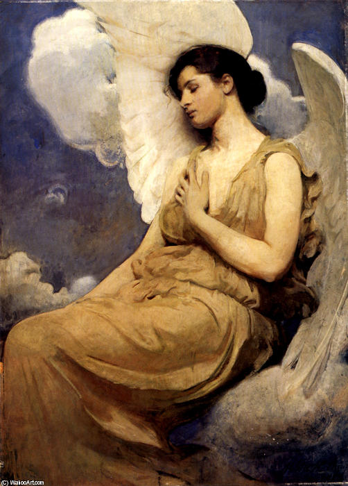 Winged Figure, Oil On Canvas by Abbott Handerson Thayer (1849-1921, United States)