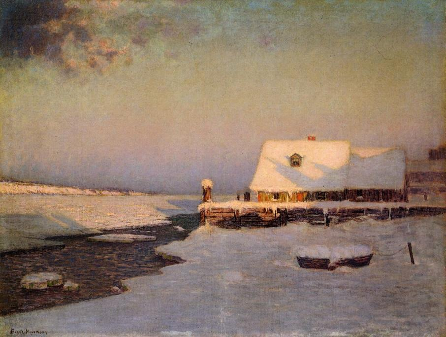 Winter Twilight, Oil On Canvas by Lowell Birge Harrison (1854-1929, United States)