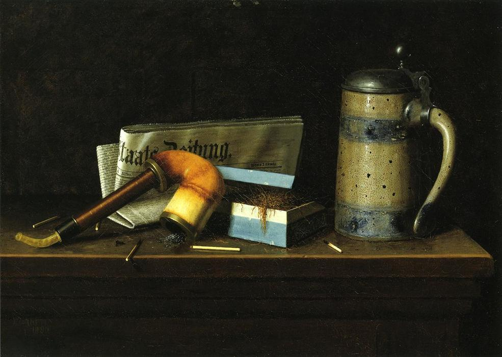 With the Staatszeitung, Oil On Canvas by William Michael Harnett (1848-1892, Ireland)