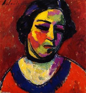 Alexej Georgewitsch Von Jawlensky - Woman-s Head