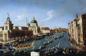 Giovanni Antonio Canal (Canaletto) - The Women-s Regatta on the Grand Canal