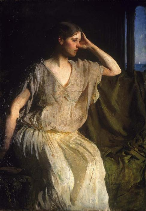 Woman in Grecian Gown, 1894 by Abbott Handerson Thayer (1849-1921, United States)