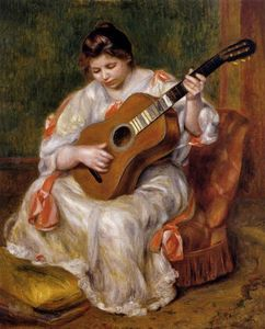 Pierre-Auguste Renoir - Woman Playing the Guitar