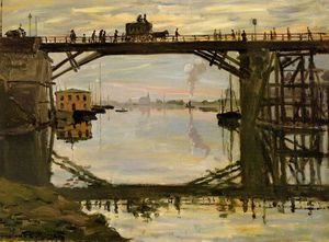 Claude Monet - The Wooden Bridge