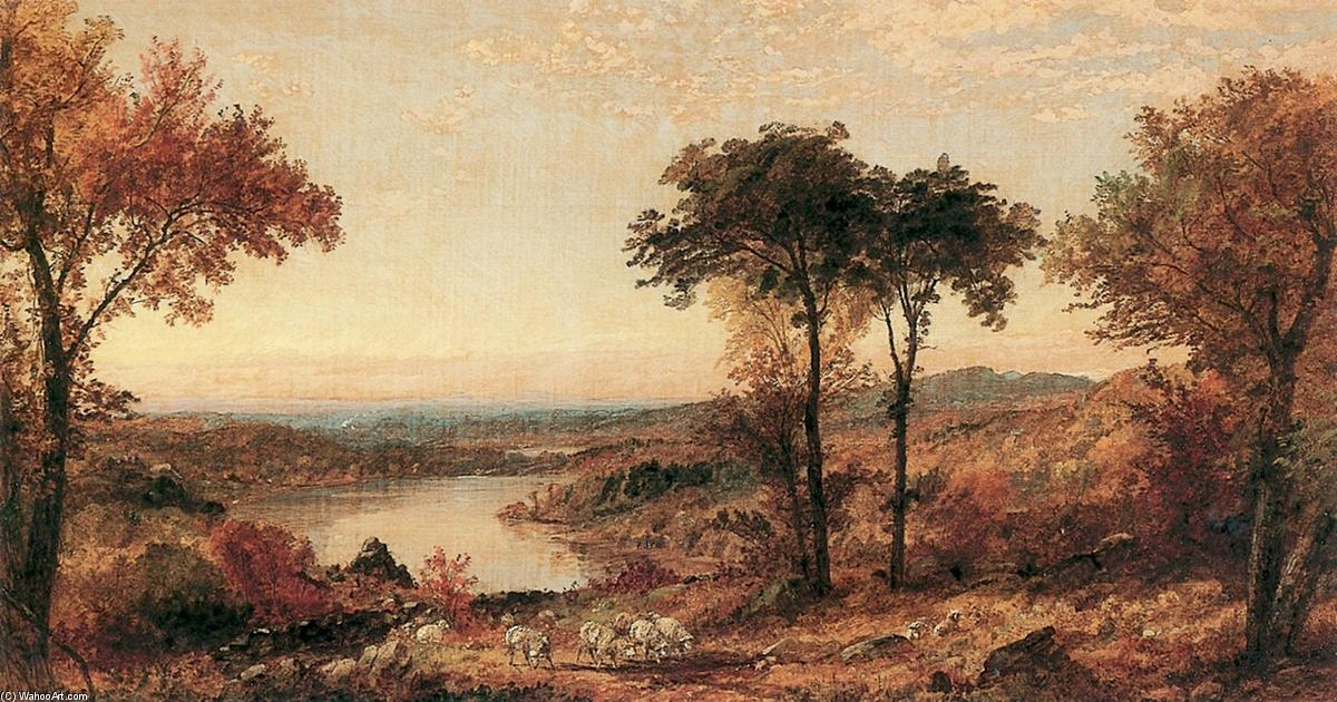 Wyoming Valley, Pennsylvania, Oil On Canvas by Jasper Francis Cropsey (1823-1900, United States)