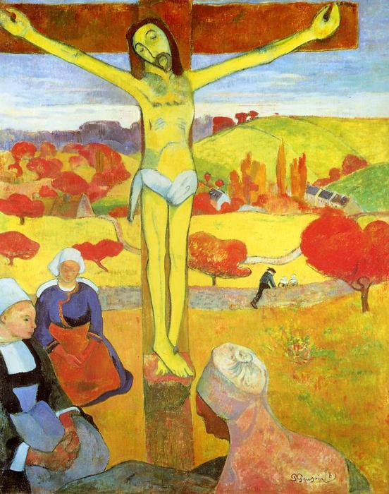 Yellow Christ, 1889 by Paul Gauguin (1848-1903, France) | Paintings Reproductions Paul Gauguin | ArtsDot.com