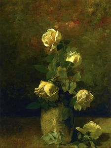 Charles Ethan Porter - Yellow Roses in a Vase