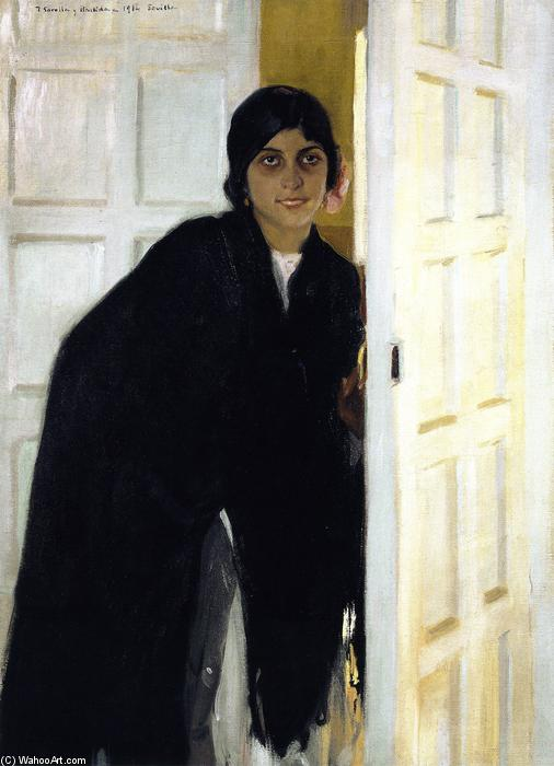 Young Andalusian Girl, Oil On Canvas by Joaquin Sorolla Y Bastida (1863-1923, Spain)