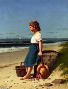 Samuel S Carr - Young Girl at the Seashor..