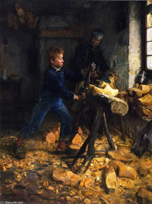 Order Museum Quality Reproductions : The Young Sabot Maker, 1895 by Henry Ossawa Tanner (1859-1937, United States) | ArtsDot.com