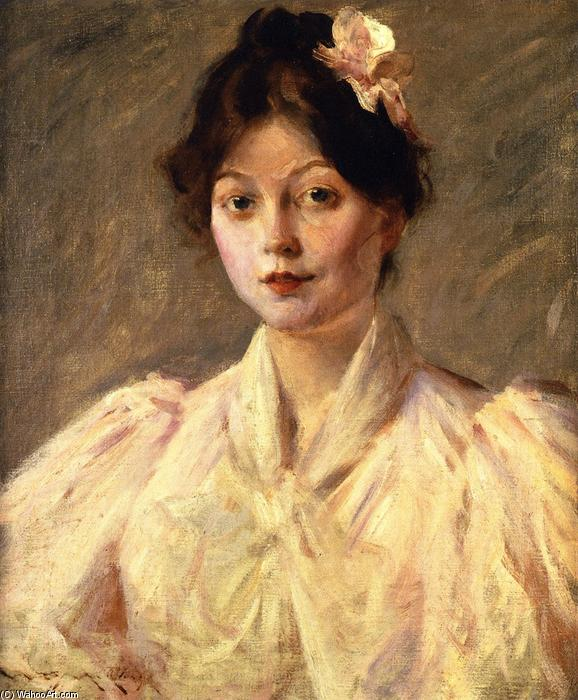 Young Woman in Pink, Oil On Canvas by William Merritt Chase (1849-1916, United States)