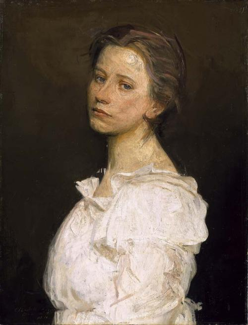 Young Woman in White by Abbott Handerson Thayer (1849-1921, United States)