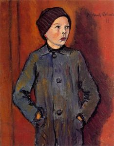 Albert Bloch - Portrait of a Boy