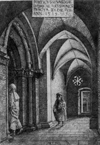 Albrecht Altdorfer - The Entrance Hall of the Regensburg Synagogue