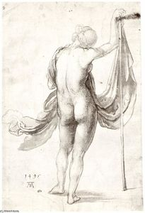 Albrecht Durer - Nude Study (Nude Female from the Back)