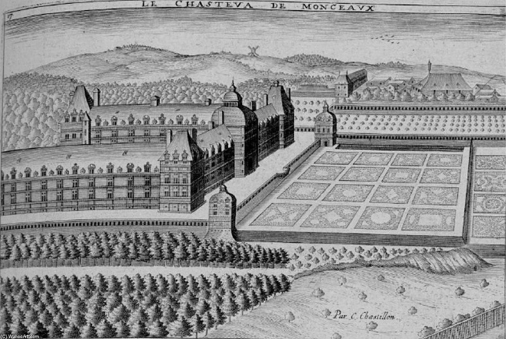 Chateau De Montceaux Au Debut Du Xviie Siecle by Claude Chastillon (1559-1616, France)