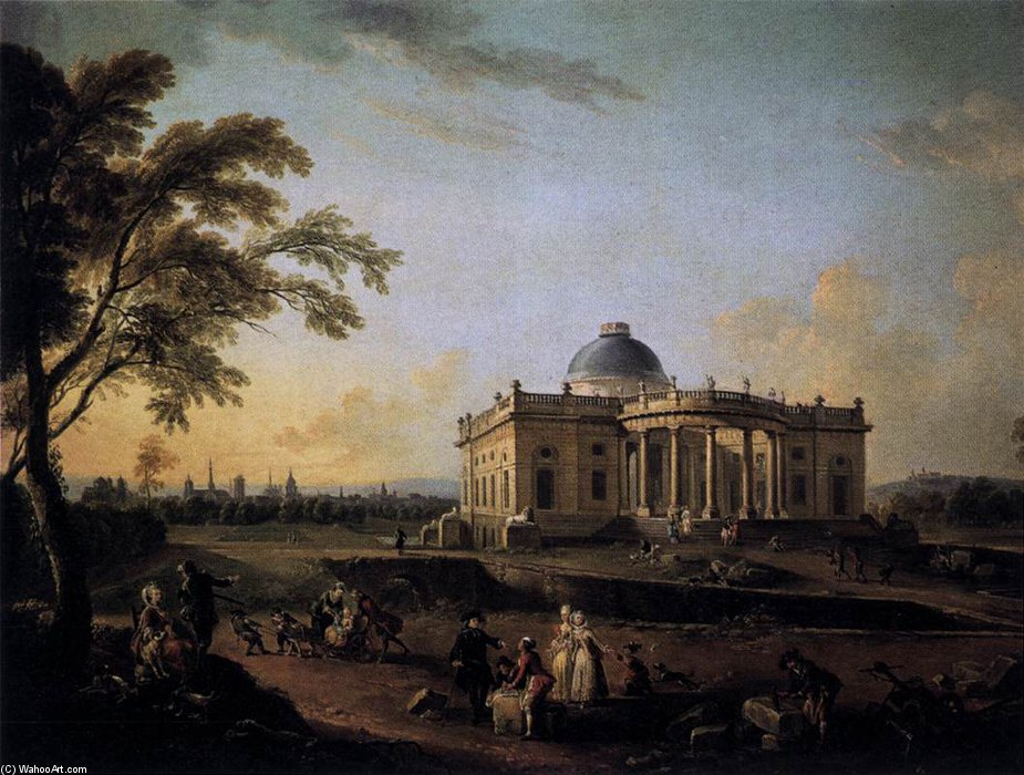 View Of The Chateau De Montmusard by Jean Baptiste Lallemand (1716-1803, France)
