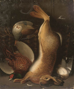 Benjamin Blake - A Hare, Cock Pheasant And Wood..