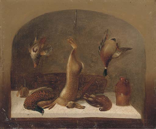 A Kitchen Still Life Within A Feigned Niche; And Another Similar by Benjamin Blake (1757-1830, United Kingdom) | ArtsDot.com