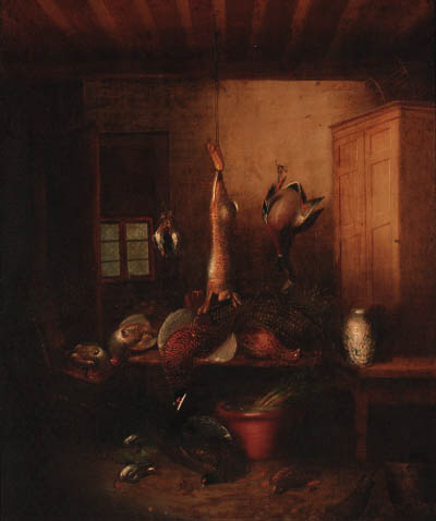 Dead Game Hanging In A Larder by Benjamin Blake (1757-1830, United Kingdom) | Painting Copy | ArtsDot.com