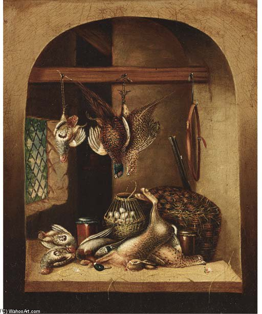 Game And A Barrel Of Oysters In A Larder; And Game And A Basket Of Eggs In A Larder by Benjamin Blake (1757-1830, United Kingdom) | ArtsDot.com