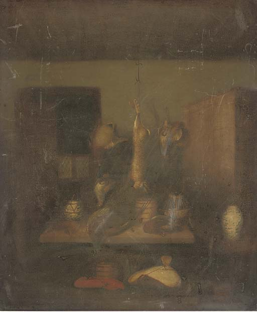 Game In A Larder; And A Hare With Other Game by Benjamin Blake (1757-1830, United Kingdom)