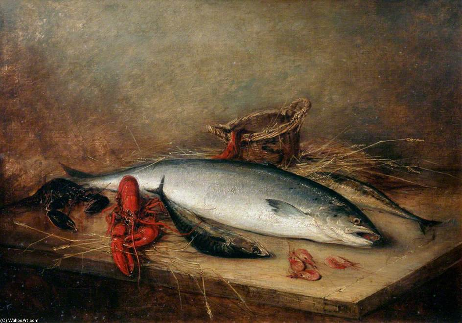 Still Life With Fish by Benjamin Blake (1757-1830, United Kingdom)