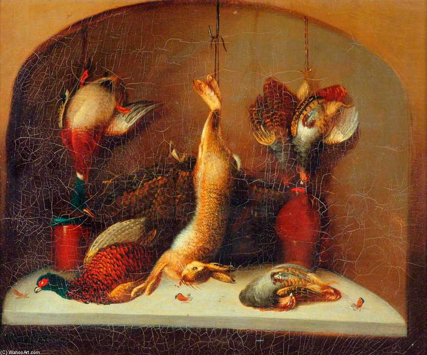 Still Life With Game by Benjamin Blake (1757-1830, United Kingdom) | Painting Copy | ArtsDot.com