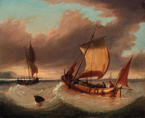 Charles Martin Powell - Fishing Barges In Coastal Waters