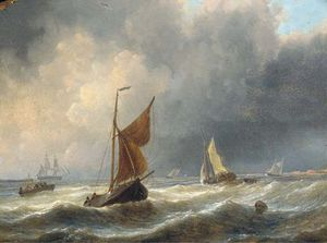 Charles Martin Powell - Heavy Weather Off The Dutch Coast