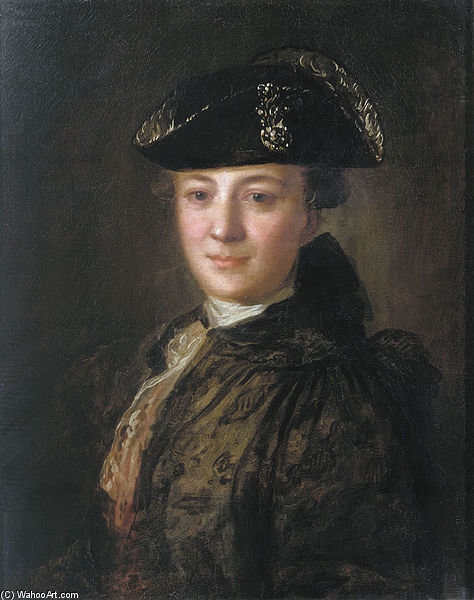 Portrait Of An Unknown Man In A Cocked Hat by Fyodor Stepanovich Rokotov (1730-1808, Russia) | Reproductions Fyodor Stepanovich Rokotov | ArtsDot.com