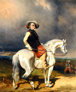 Abraham Cooper - Cavalier On A White Horse