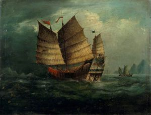 George Chinnery - Chinese Junks