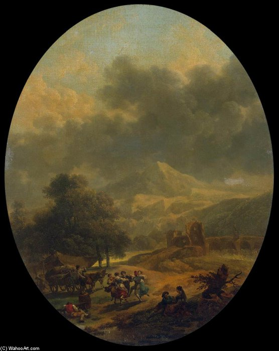 Country Landscape by Nicolas Antoine Taunay (1755-1830, France)