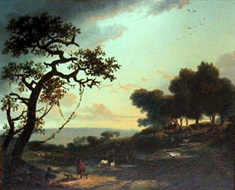 Landscape With Shepherds by Nicolas Antoine Taunay (1755-1830, France) | Museum Art Reproductions | ArtsDot.com