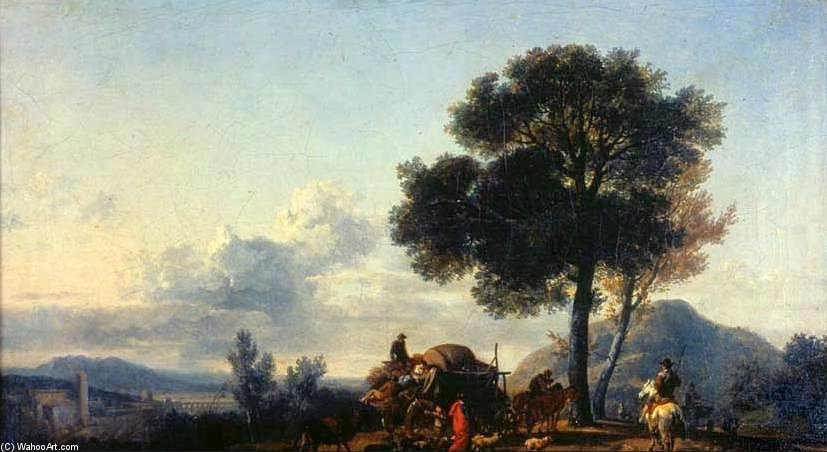Pastoral Landscape by Nicolas Antoine Taunay (1755-1830, France)