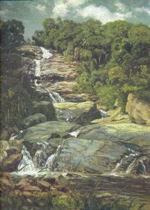 Nicolas Antoine Taunay - Small Cascade In Tijuca