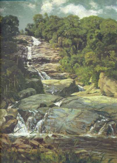 Small Cascade In Tijuca by Nicolas Antoine Taunay (1755-1830, France)
