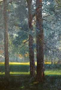 Théodore Casimir Roussel - A Wood In Autumn, The Las..