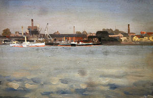 Theodore Roussel - Battersea From Cheyne Wal..