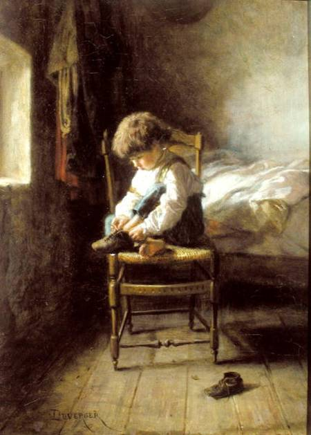 Alone - by Theophile Emmanuel Duverger (1821-1898, France)