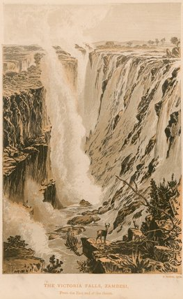 The Victoria Falls by Thomas Baines (1820-1875, United Kingdom)
