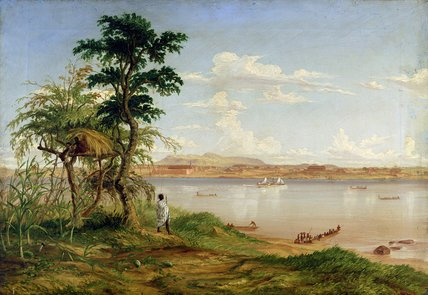 Town Of Tete From The North Shore Of The Zambesi by Thomas Baines (1820-1875, United Kingdom)