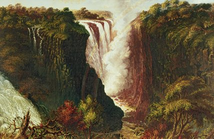 Victoria Falls From Western End Of Chasm by Thomas Baines (1820-1875, United Kingdom)