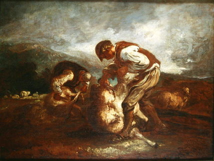 Sheep Shearing by Thomas Barker (1769-1847, United Kingdom)